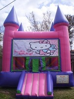 Hello Kitty Castle Moonwalk 1